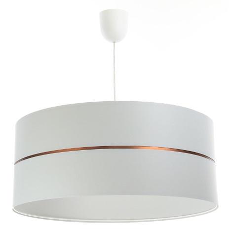 Żyrandol na lince GLAM HOME 1xE27/60W/230V śr. 40 cm biały