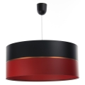 Żyrandol na lince GLAM HOME 1xE27/60W/230V śr. 40 cm czarny/czerwony