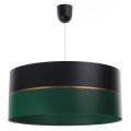 Żyrandol na lince GLAM HOME 1xE27/60W/230V śr. 40 cm czarny/zielony